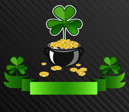 Projeto do cartaz do dia do ` s de St Patrick Imagem de Stock