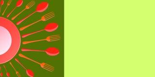 Projeto do cartaz do menu do alimento Foto de Stock Royalty Free
