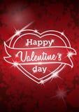 Projeto do cartaz do partido do dia de Valentim do vetor Imagens de Stock Royalty Free