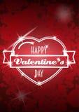 Projeto do cartaz do partido do dia de Valentim Molde do convite, do inseto, do cartaz ou do cartão Foto de Stock