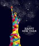 Projeto do cartaz dos EUA do ano novo 2015 ilustração royalty free
