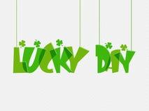 Projeto do cartaz ou da bandeira para a celebração do dia de St Patrick Fotografia de Stock