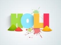 Projeto do cartaz ou da bandeira para a celebração feliz de Holi Imagem de Stock