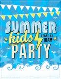 Projeto do cartaz do partido das crianças do verão Fotografia de Stock