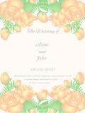 Projeto do casamento de rosas bege Fotografia de Stock