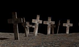 Projeto do cemitério 3d-illustration Ilustração Royalty Free