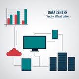 Projeto do centro de dados Imagem de Stock