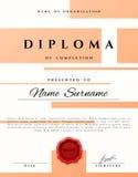 Projeto do certificado Certificado atual do prêmio Foto de Stock Royalty Free