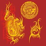 Projeto do chinês - grupo do vetor Imagens de Stock Royalty Free
