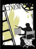 Projeto do cinema ilustração stock