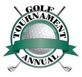 Projeto do competiam do golfe ilustração royalty free