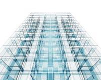 Projeto do conceito da arquitetura rendição 3d Foto de Stock Royalty Free