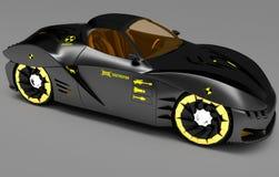 Projeto do conceito do carro da cidade em um estilo futurista ilustração 3D Foto de Stock
