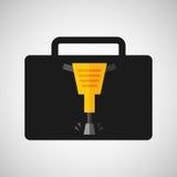 projeto do ícone da construção do jackhammer da caixa de ferramentas Fotos de Stock Royalty Free