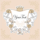 Projeto do convite com rosas Fotografia de Stock Royalty Free