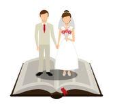 Projeto do convite do casamento ilustração do vetor