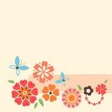 Projeto do coração das flores Fotos de Stock Royalty Free