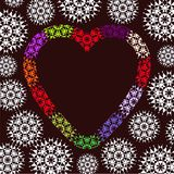Projeto do coração do inverno Fotografia de Stock Royalty Free