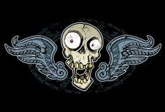 Crânio e asas loucos ilustração royalty free