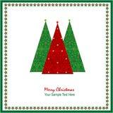 Projeto do cumprimento do Natal Fotografia de Stock Royalty Free