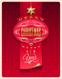 Projeto do cumprimento do Natal Imagens de Stock