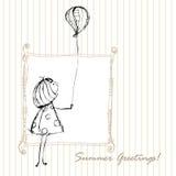 Projeto do cumprimento do verão ilustração do vetor