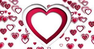 Projeto do dia de Valentim com corações ilustração do vetor