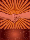 Projeto do Dia do Trabalhador com aperto de mão do trabalhador Imagem de Stock Royalty Free