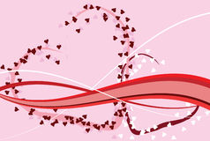 Projeto do dia do Valentim romântico do St. Fotos de Stock Royalty Free