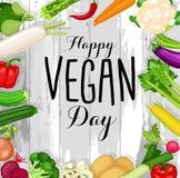 Projeto do dia do vegetariano do mundo ilustração do vetor