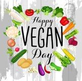 Projeto do dia do vegetariano do mundo ilustração royalty free
