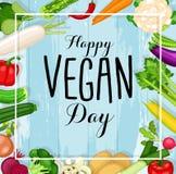 Projeto do dia do vegetariano do mundo ilustração stock