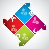 Projeto do diagrama do negócio com ícones sociais dos media Fotos de Stock Royalty Free
