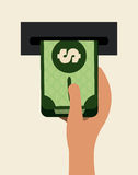 Projeto do dinheiro Foto de Stock Royalty Free