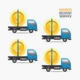 Projeto do dinheiro do serviço de entrega do negócio Imagem de Stock Royalty Free