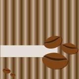 Projeto do eco do cartão, loja de alimentos orgânicos ou cartão do café do vegetariano no fundo descascado Ilustração do vetor Gr Imagem de Stock