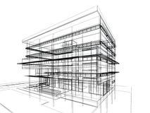 Projeto do esboço da construção ilustração do vetor