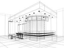 Projeto do esboço da loja ilustração stock