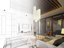 Projeto do esboço da vida interior Imagens de Stock Royalty Free