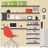 Projeto do escritório domiciliário Imagem de Stock Royalty Free