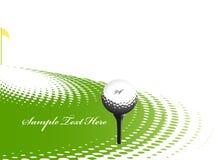 Projeto do esporte do golfe ilustração do vetor