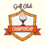 Projeto do esporte do golfe Fotos de Stock