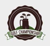 Projeto do esporte do golfe Foto de Stock