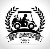 Projeto do esporte do golfe Imagens de Stock Royalty Free