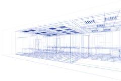 Projeto do fio do escritório Foto de Stock