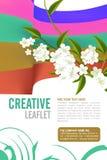 Projeto do folheto Imagens de Stock