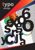 Projeto do folheto da tipografia Imagem de Stock