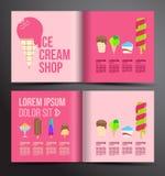 Projeto do folheto do gelado Imagens de Stock