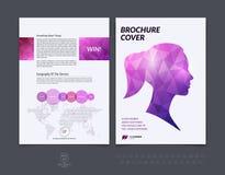 Projeto do folheto, inseto, tampa, brochura e templat da disposição do relatório Fotos de Stock