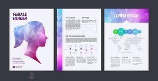 Projeto do folheto, inseto, tampa, brochura e templat da disposição do relatório Foto de Stock Royalty Free